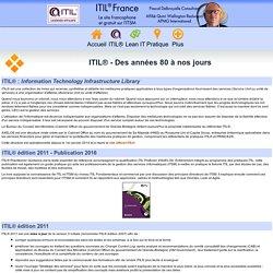 ITIL® - Des années 80 à nos jours