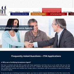 IRS Certified Acceptance Agents Europe