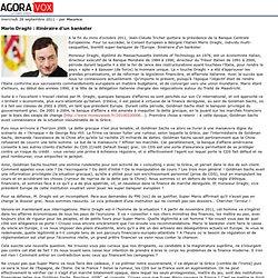 Mario Draghi: itinéraire d'un bankster