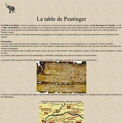 La table de Peutinger