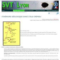 Itinéraire géologique dans l'Isle Crémieu - SVT Lyon