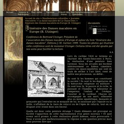 Itinéraire des Danses macabres en Europe (B. Utzinger) - abbaye-chaise-dieu.com