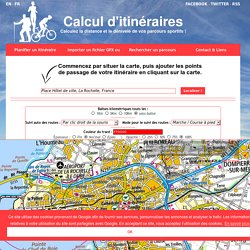 Calcul d'itinéraires : Jogging, Running, Course à pied, Vélo, Cyclisme, Roller, Randonnée - Carte IGN Géoportail France - Entrainement de course à pied - Parcours de randonnée - Circuit à vélo