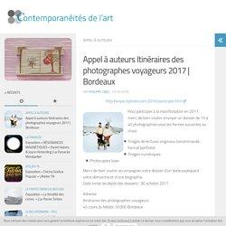 Appel à auteurs Itinéraires des photographes voyageurs 2017