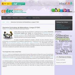 Itinerarios Curriculares de Matemáticas y Lengua 3º ESO