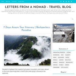 Assam 7 Days Tour Itinerary