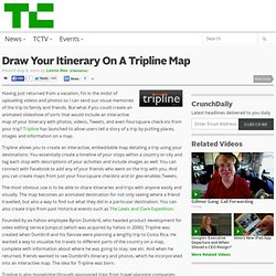 Draw Your Itinerary On A Tripline Map