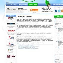Conseils emploi en TI - ITJobs.ca