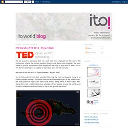 ITO World at TED 2010 - Project Haiti