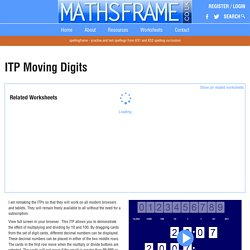 ITP Moving Digits - Mathsframe