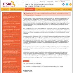 ITSAPEvaluation monétaire du service rendu par la pollinisation pour l'agriculture française - ITSAP