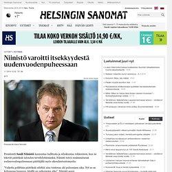 Niinistö varoitti itsekkyydestä uudenvuodenpuheessaan - Sauli Niinistö