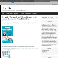 Sex itself : The Search for Male and Female in the Human Genome par Sarah Richardson