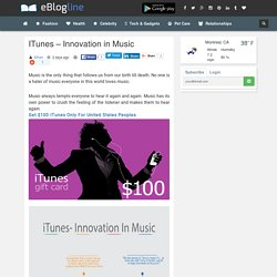 ITunes - Innovation in Music