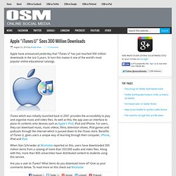"Apple ""iTunes U"" Sees 300 Million Downloads"