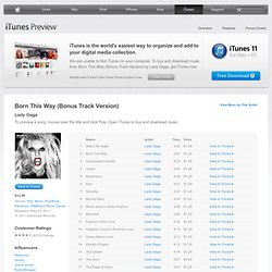 Born This Way (Bonus Track Version) by Lady GaGa - Download Born This Way (Bonus Track Version) on iTunes
