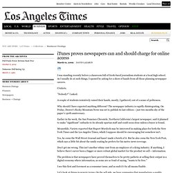 iTunes proves newspapers can and should charge for online access