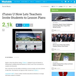 iTunes U Now Lets Teachers Invite Students to Lesson Plans