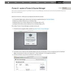 iTunesU: accès à iTunesUCourseManager
