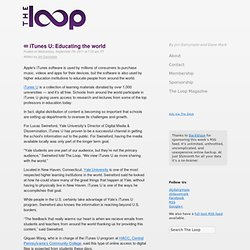 iTunes U: Educating the world | The Loop