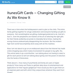Itunes Gift Cards – Changing Gifting As We Know It
