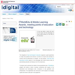 EN_news_ITWorldEdu & Mobile Learning Awards meeting points of education and technology