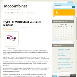 ITyPA : le MOOC dont vous êtes le héros