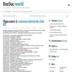 iTypa cours 5 : retranscription du chat IRC ← DucDuc world