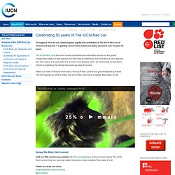 Celebrating 50 years of The IUCN Red List