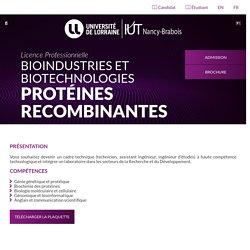 LP Bioindustries Biotechnologies - Protéines recombinantes - IUTNB