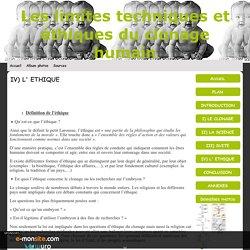 IV) L' ETHIQUE