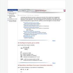 Ivaldi - Calcul thermique