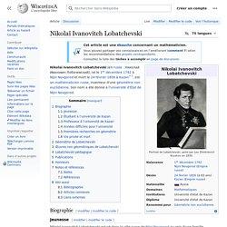 Nikolaï Ivanovitch Lobatchevski