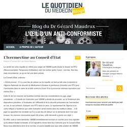 L'Ivermectine au Conseil d'Etat – Blog du Dr Gérard Maudrux