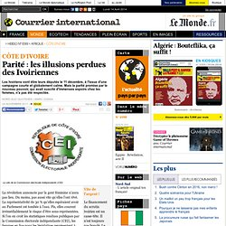 Parité : les illusions perdues des Ivoiriennes