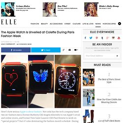 Apple iWatch at PFW - Paris Fashion Week Accessories iWatch
