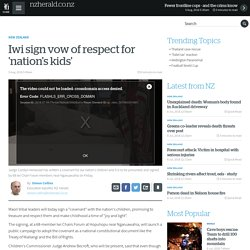Iwi sign vow of respect for 'nation's kids'
