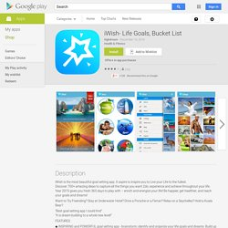 iWish- Life Goals, Bucket List - Android Apps on Google Play