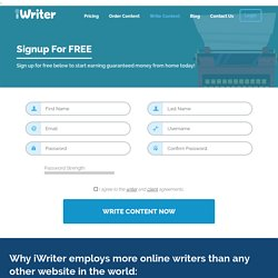 iWriter - Register and request articles