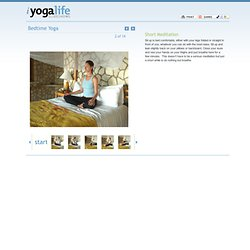 Slideshows - Bedtime Yoga