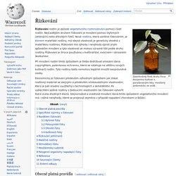 Řízkování – Wikipedie