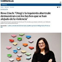 """Rosa Lluch: """"Otegi y la izquierda abertzale demuestran con los hechos que se han alejado de la violencia"""""""