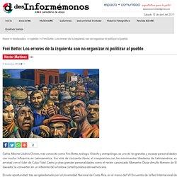 Frei Betto: Los errores de la izquierda son no organizar ni politizar al pueblo - Desinformémonos