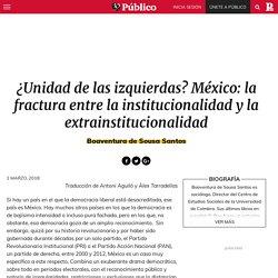 ¿Unidad de las izquierdas? México: la fractura entre la institucionalidad y la extrainstitucionalidad – Espejos extraños