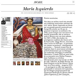 María Izquierdo — Archives of Women Artists, Research and Exhibitions