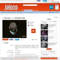 « J'accuse... ! » d'Emile Zola