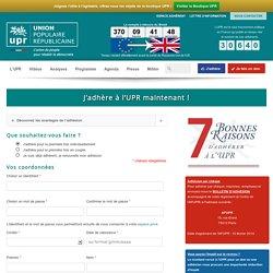 J'adhère à l'UPR maintenant !