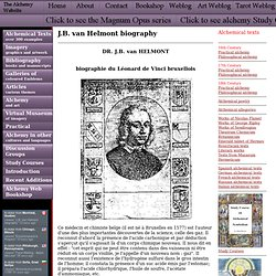 J.B. van Helmont biography