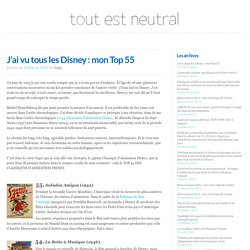 J'ai vu tous les Disney : mon Top 55