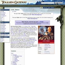 J.R.R. Tolkien - Tolkien Gateway